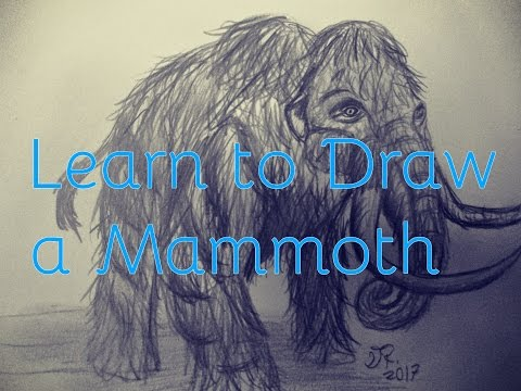 How to Draw a Woolly Mammoth from Jurassic World the Game