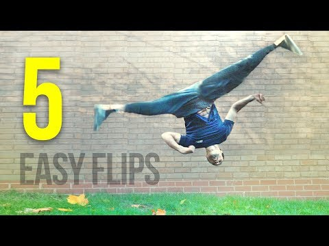 5 EASY FLIPS Anyone can Learn on Grass!
